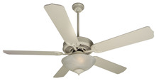 "Craftmade K10622 - Pro Builder 201 52"" Ceiling Fan Kit with Light Kit in Antique White"