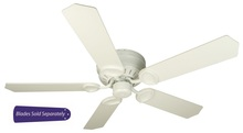 "Craftmade PUH52AW - Pro Universal Hugger 52"" Ceiling Fan in Antique White (Blades Sold Separately)"