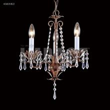 James R Moder 40683VB22 - 3 Arm Mini Crystal Chandelier