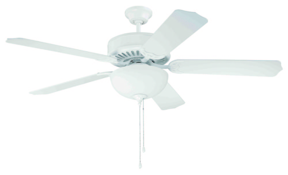"Armstrong's in New Orleans, Louisiana, United States,  T9PH, Pro Builder 201 52"" Ceiling Fan Kit with Light Kit in White, Pro Builder 201"