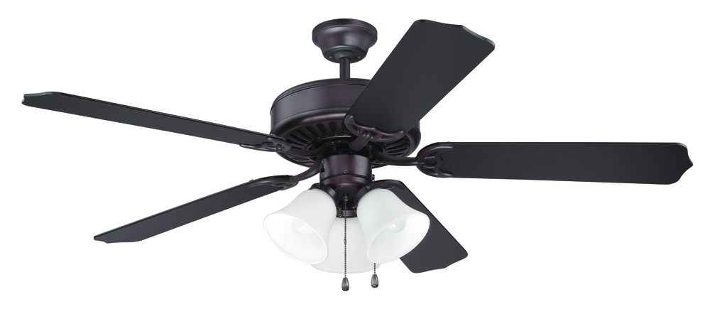 "Armstrong's in New Orleans, Louisiana, United States,  P8Z2, Pro Builder 205 52"" Ceiling Fan Kit with Light Kit in Oiled Bronze, Pro Builder 205"