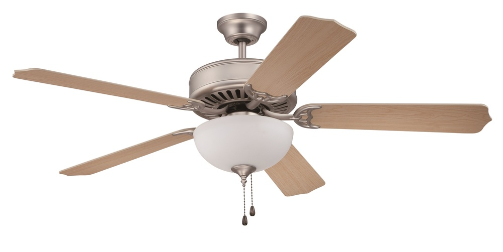"Pro Builder 201 52"" Ceiling Fan Kit with Light Kit in Brushed Satin Nickel"