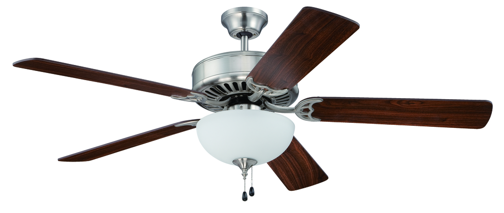 "Armstrong's in New Orleans, Louisiana, United States,  TAPH, Pro Builder 201 52"" Ceiling Fan Kit with Light Kit in Brushed Polished Nickel, Pro Builder 201"