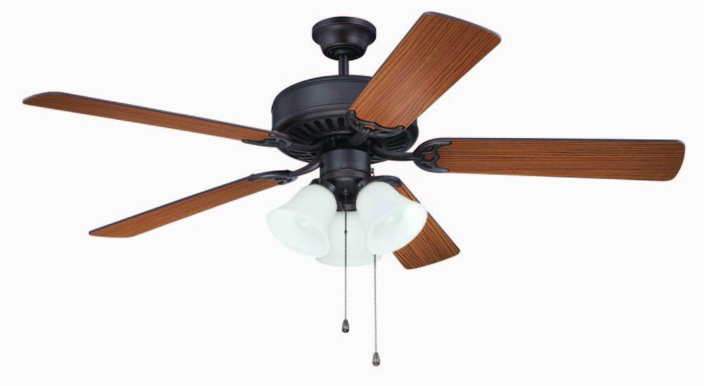 "Pro Builder 205 52"" Ceiling Fan Kit with Light Kit in Aged Bronze Brushed"
