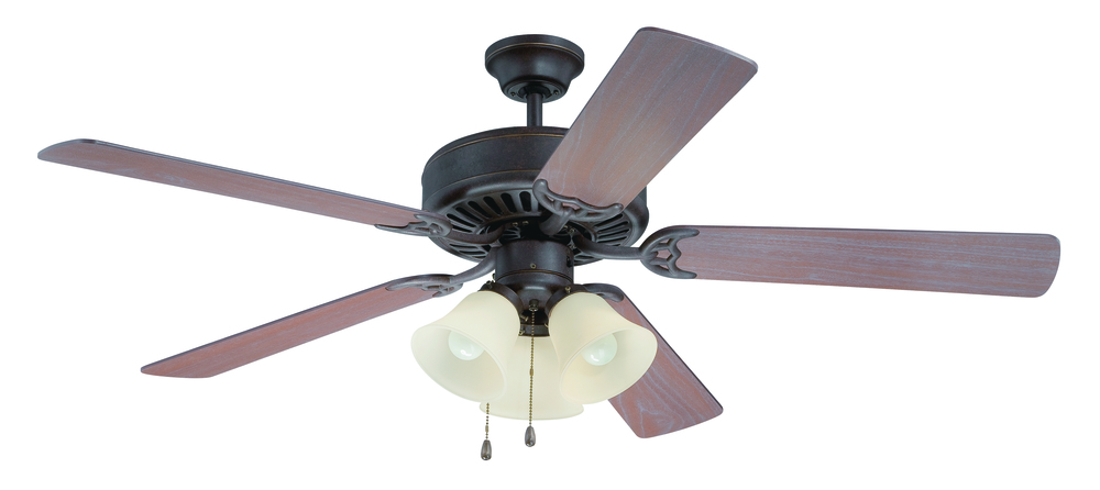 "Armstrong's in New Orleans, Louisiana, United States,  TAPV, Pro Builder 206 52"" Ceiling Fan Kit with Light Kit in Aged Bronze Textured, Pro Builder 206"
