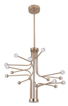 Craftmade 43016-SB-LED - Solis 16 Arm LED Chandelier in Satin Brass