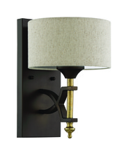 Craftmade 46361-ANGBZ - Colonial 1 Light Wall Sconce in Antique Gold and Bronze