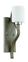Craftmade 46761-PLNWF - Jasmine 1 Light Wall Sconce in Polished Nickel and Weathered Fir