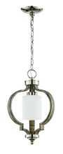 Craftmade 46791-PLNWF - Jasmine 1 Light Pendant in Polished Nickel and Weathered Fir