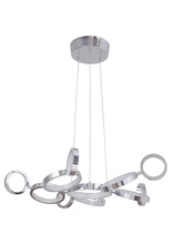 Craftmade 47191-CH-LED - Mira 11 Ring LED Adjustable Chandelier in Chrome