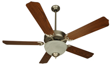 "Craftmade K10623 - Pro Builder 201 52"" Ceiling Fan Kit with Light Kit in Brushed Satin Nickel"