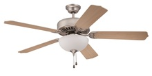 "Craftmade K10624 - Pro Builder 201 52"" Ceiling Fan Kit with Light Kit in Brushed Satin Nickel"
