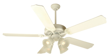 "Craftmade K10630 - Pro Builder 203 52"" Ceiling Fan Kit with Light Kit in Antique White"