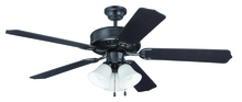 "Craftmade K11113 - Pro Builder 205 52"" Ceiling Fan Kit with Light Kit in Flat Black"