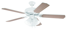 "Craftmade K11115 - Pro Builder 205 52"" Ceiling Fan Kit with Light Kit in White"