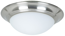 Craftmade LKE53CFL-SS - 2 Light Elegance Bowl Fan Light Kit in Stainless Steel with Cased White Glass