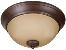 "Craftmade XP11AG-2A - Pro Builder 2 Light 11"" Flushmount in Aged Bronze Textured"
