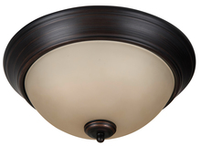 "Craftmade XP13ABZ-2A - Pro Builder 2 Light 13"" Flushmount in Aged Bronze Brushed"