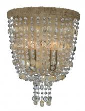 Crystorama 262-BS - Crystorama Eva 2 Light Burnished Silver Sconce