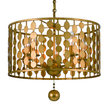 Crystorama 545-GA - Crystorama Layla 5 Light Antique Gold Chandelier