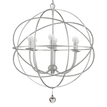 Crystorama 9226-OS - Crystorama Solaris 6 Light Silver Sphere Chandelier III
