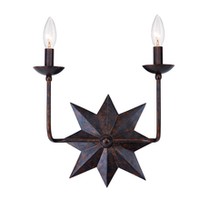 Crystorama 9232-EB - Crystorama Astro 2 Light Bronze Sconce