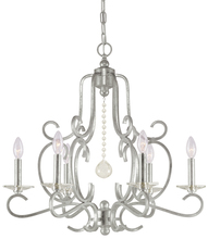 Crystorama 9346-OS - Crystorama Orleans 6 Light Silver Chandelier