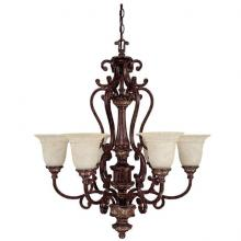 Capital 3636CB-283 - Six Light Chesterfield Brown Up Chandelier