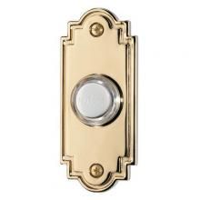 Broan-Nutone PB15LPB - Door Chime Pushbutton, lighted in polished brass