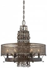 Minka Metropolitan N6725-258 - French Bronze Jeweled Accents Glass Up Chandelier