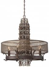 Minka Metropolitan N6726-258 - French Bronze Jeweled Accents Glass Up Chandelier