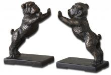 Uttermost 19643 - Uttermost Bulldogs Cast Iron Bookends, Set/2