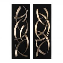 Uttermost 04139 - Uttermost Brushstrokes Metal Wall Art, S/2