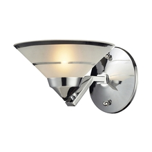 ELK Lighting 1470/1 - Refraction 1 Light Wall Sconce In Polished Chrom